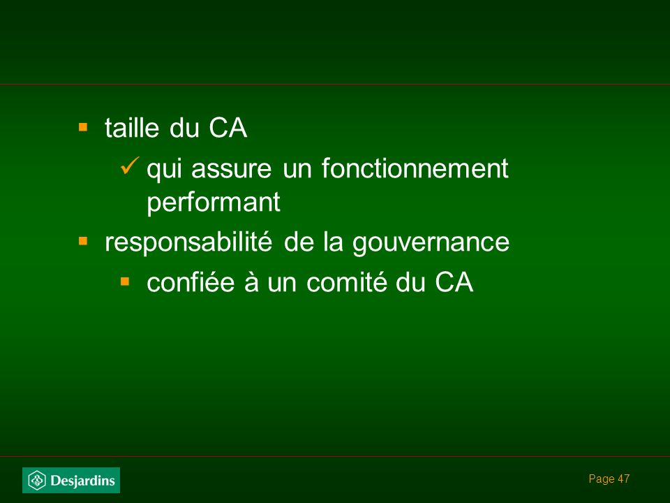 qui assure un fonctionnement performant