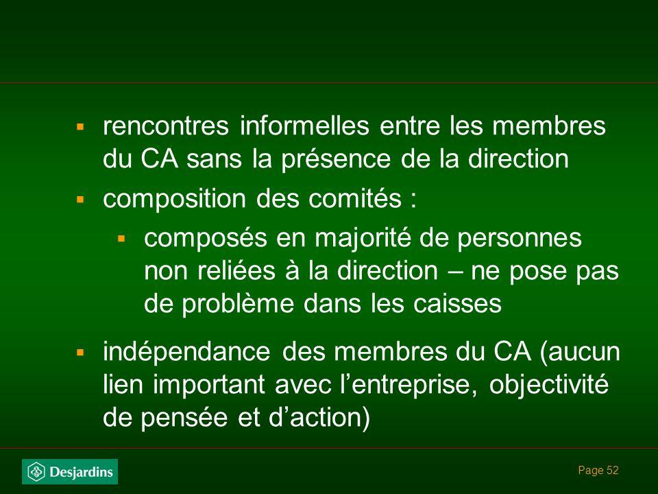 composition des comités :