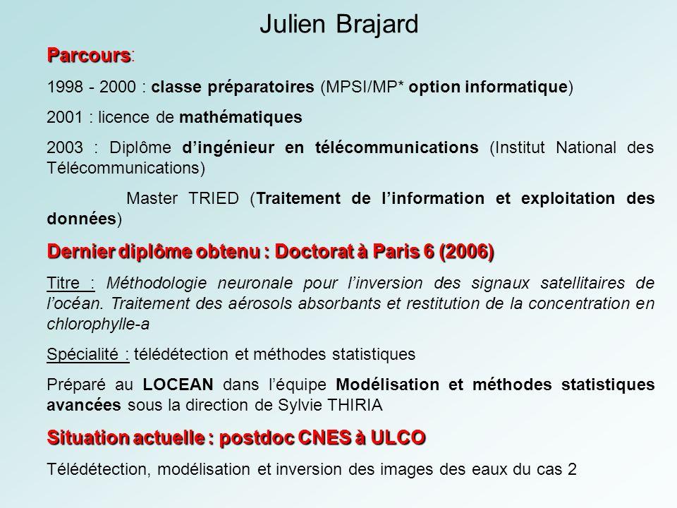 Julien Brajard Parcours: