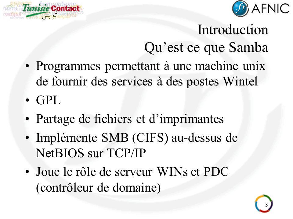 Introduction Qu'est ce que Samba