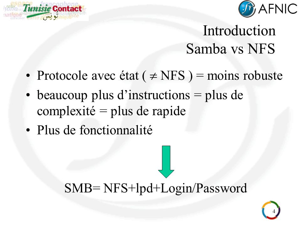 Introduction Samba vs NFS