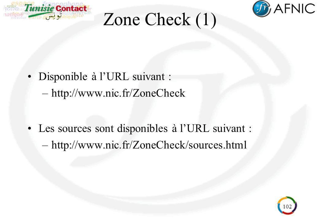 Zone Check (1) Disponible à l'URL suivant :