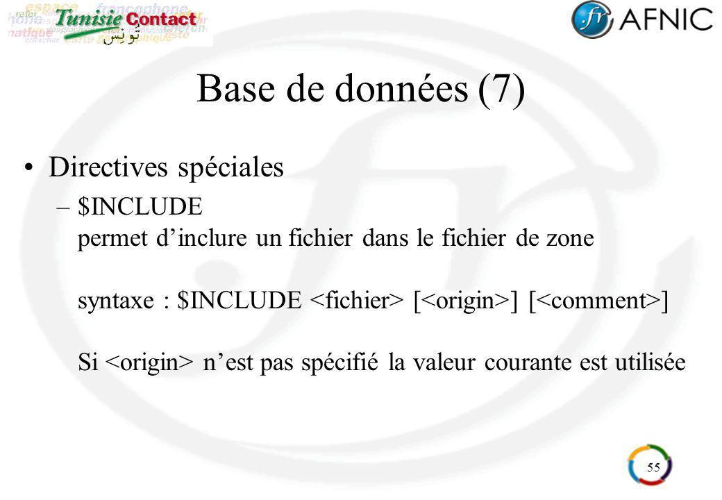 Base de données (7) Directives spéciales