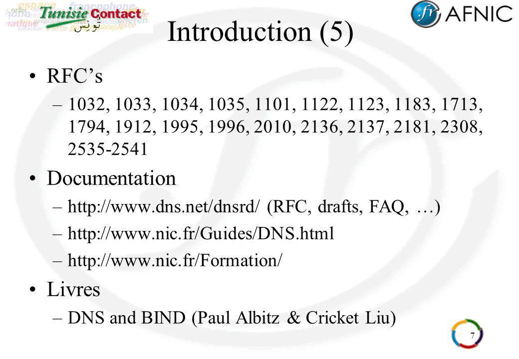 Introduction (5) RFC's Documentation Livres
