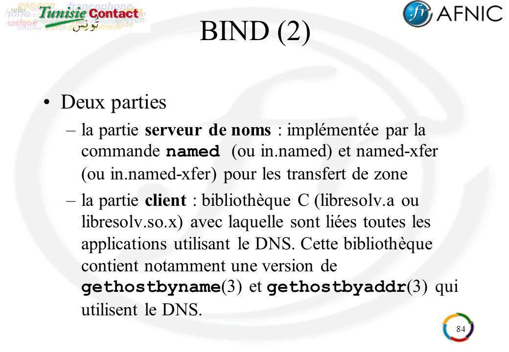 BIND (2) Deux parties.