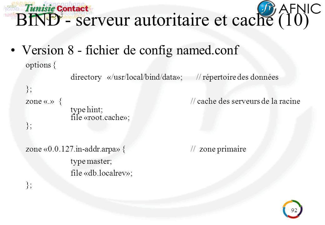 BIND - serveur autoritaire et cache (10)
