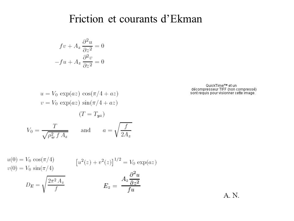 Friction et courants d'Ekman