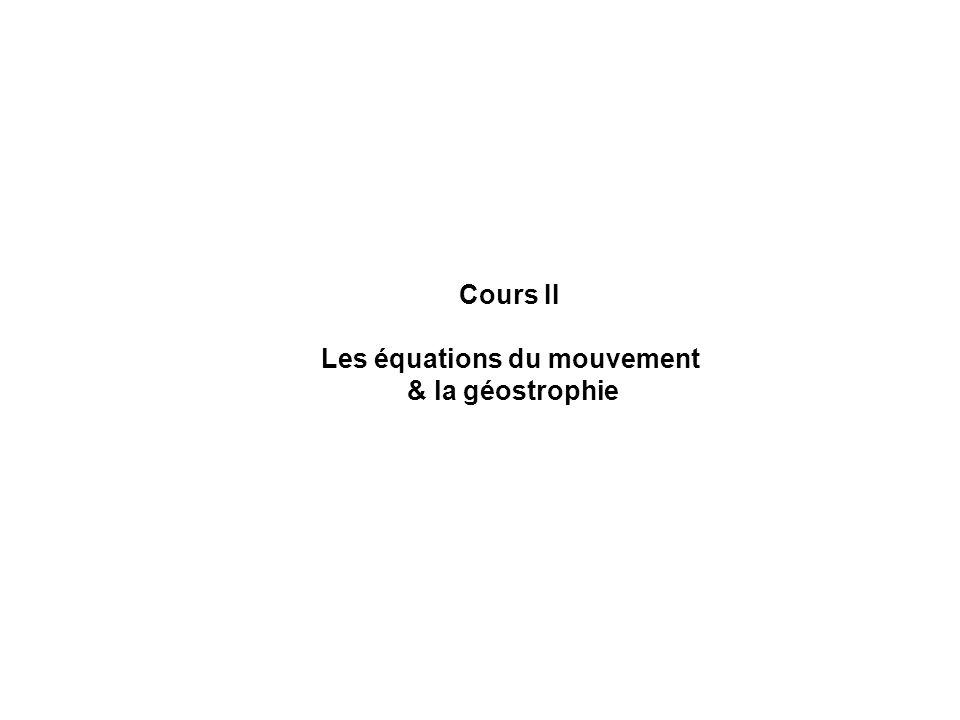 Les équations du mouvement