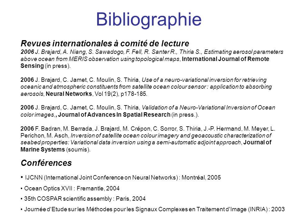 Bibliographie Revues internationales à comité de lecture Conférences