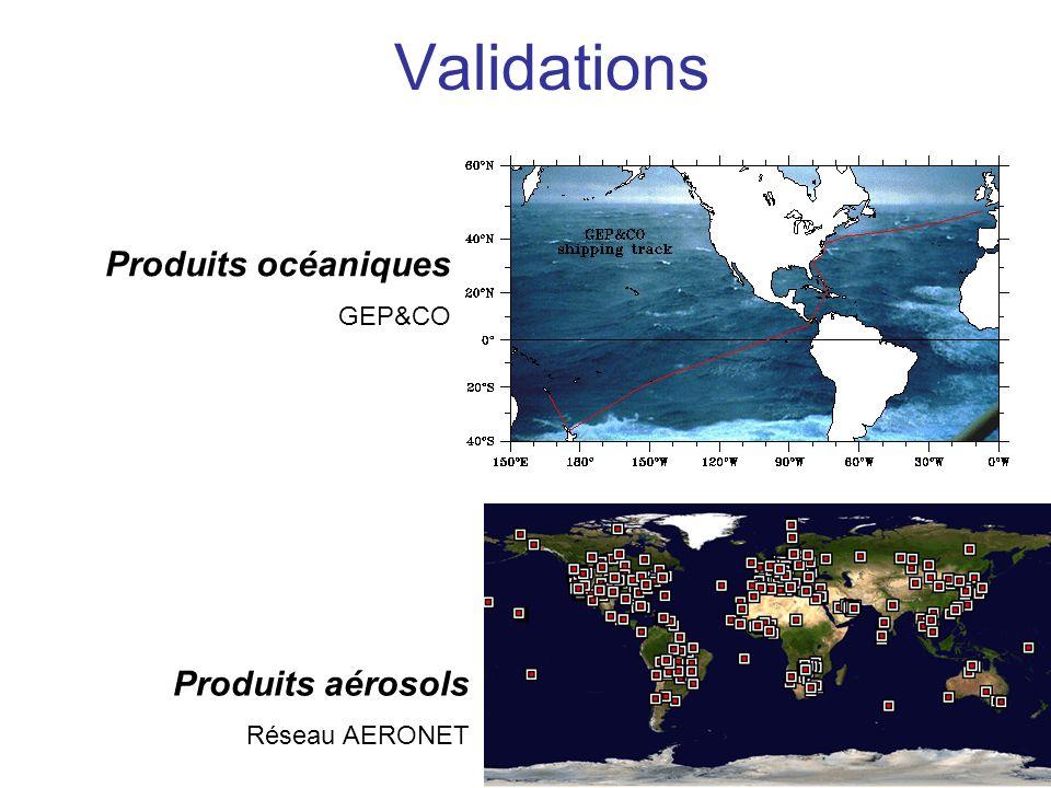 Validations Produits océaniques Produits aérosols GEP&CO
