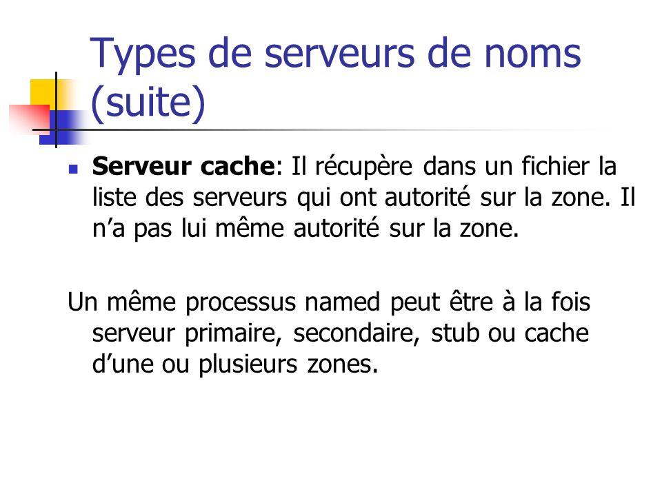 Types de serveurs de noms (suite)