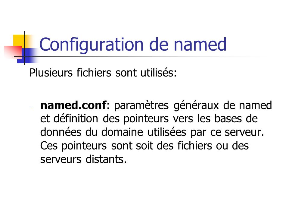 Configuration de named