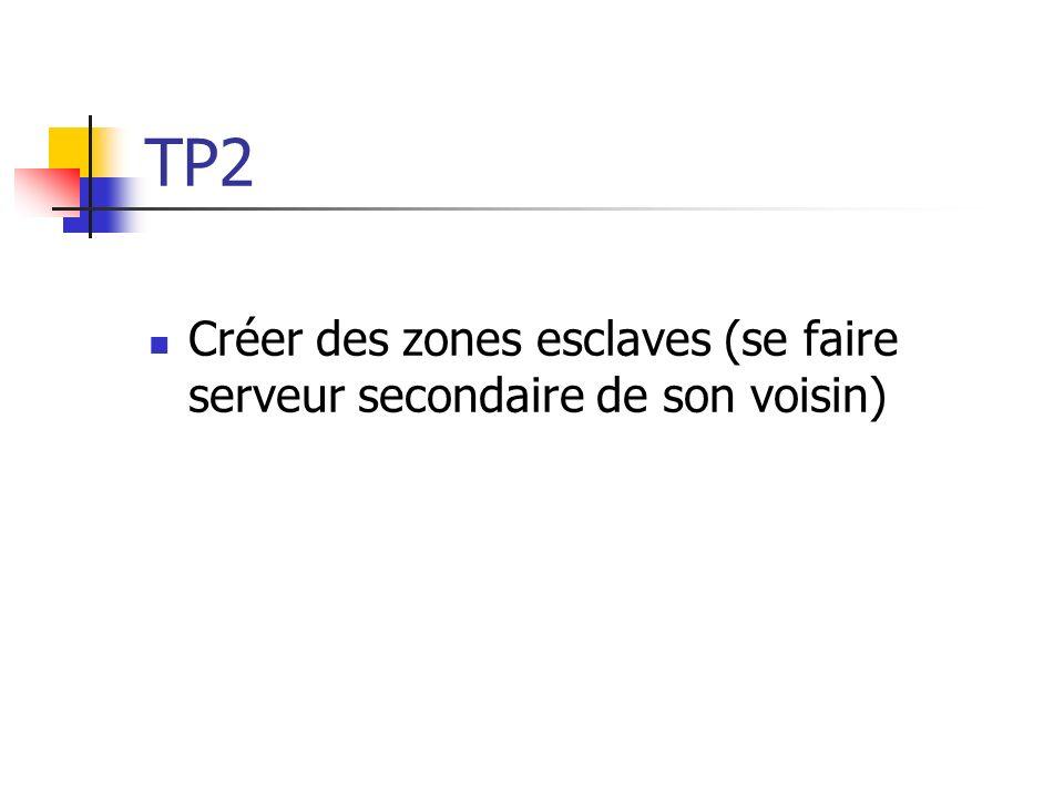 TP2 Créer des zones esclaves (se faire serveur secondaire de son voisin)