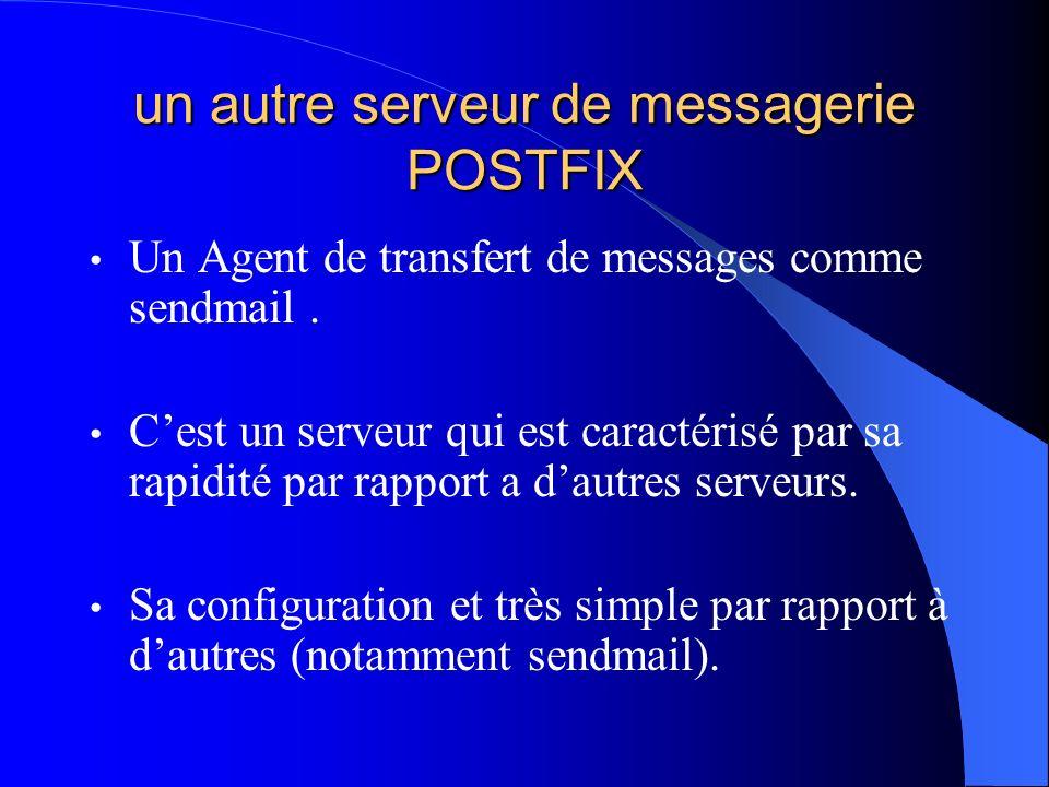 un autre serveur de messagerie POSTFIX