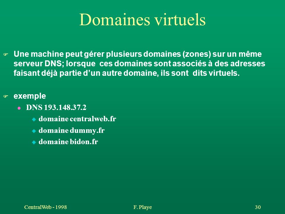 Domaines virtuels