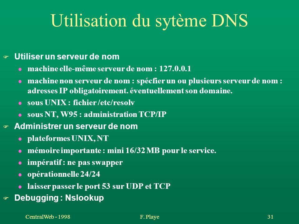 Utilisation du sytème DNS