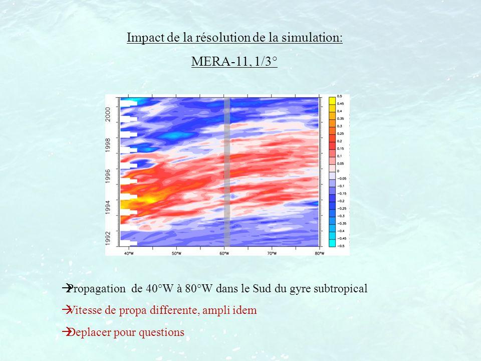 Impact de la résolution de la simulation: