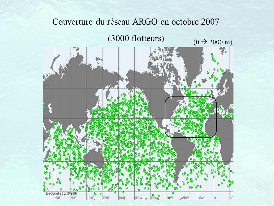 Couverture du réseau ARGO en octobre 2007