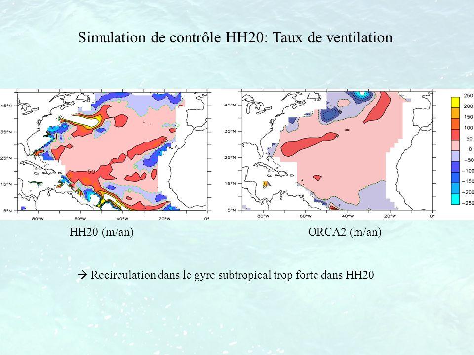 Simulation de contrôle HH20: Taux de ventilation