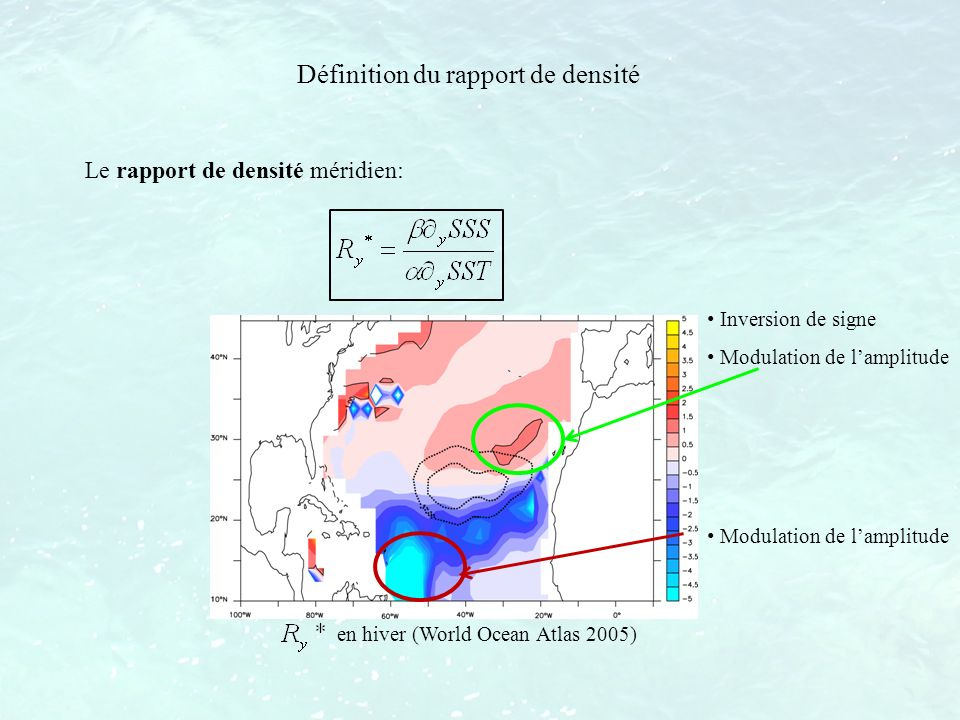 Définition du rapport de densité