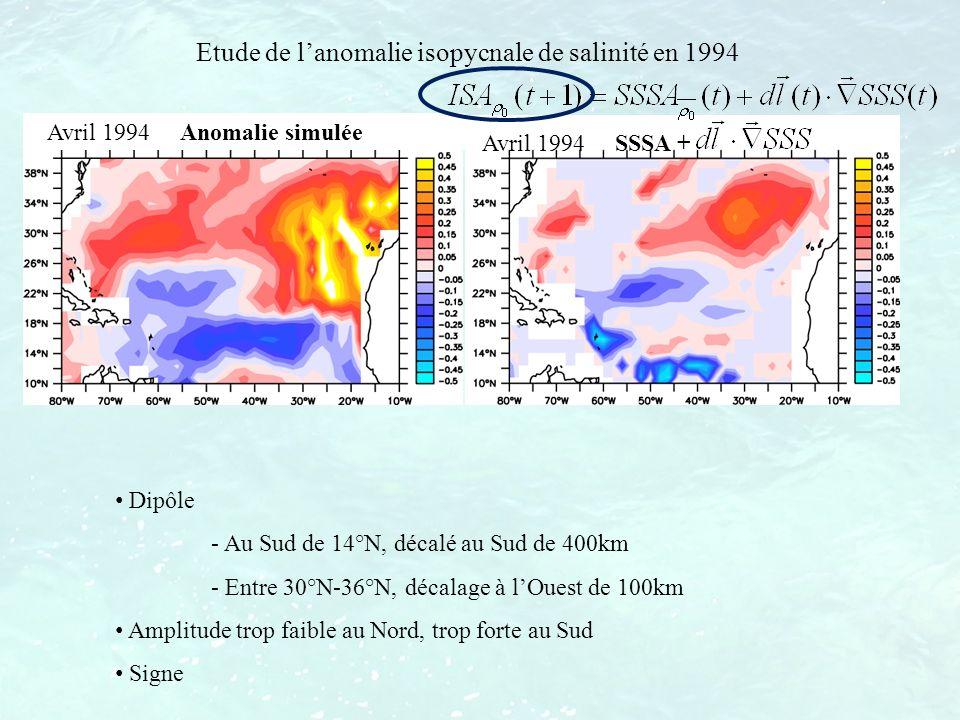 Etude de l'anomalie isopycnale de salinité en 1994