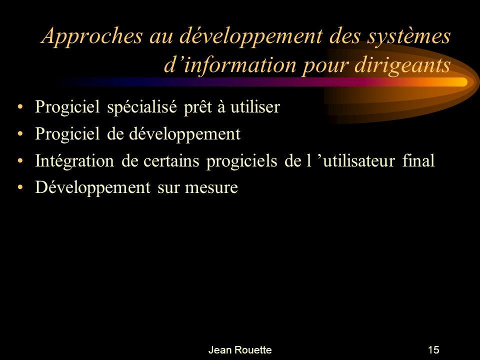 Approches au développement des systèmes d'information pour dirigeants