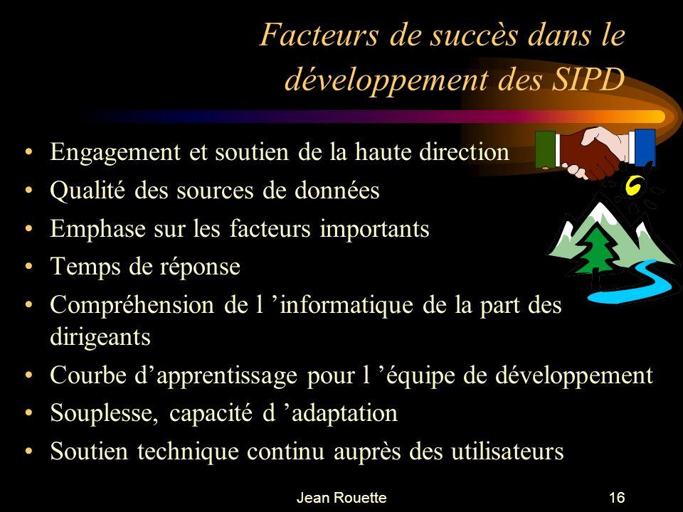 Facteurs de succès dans le développement des SIPD