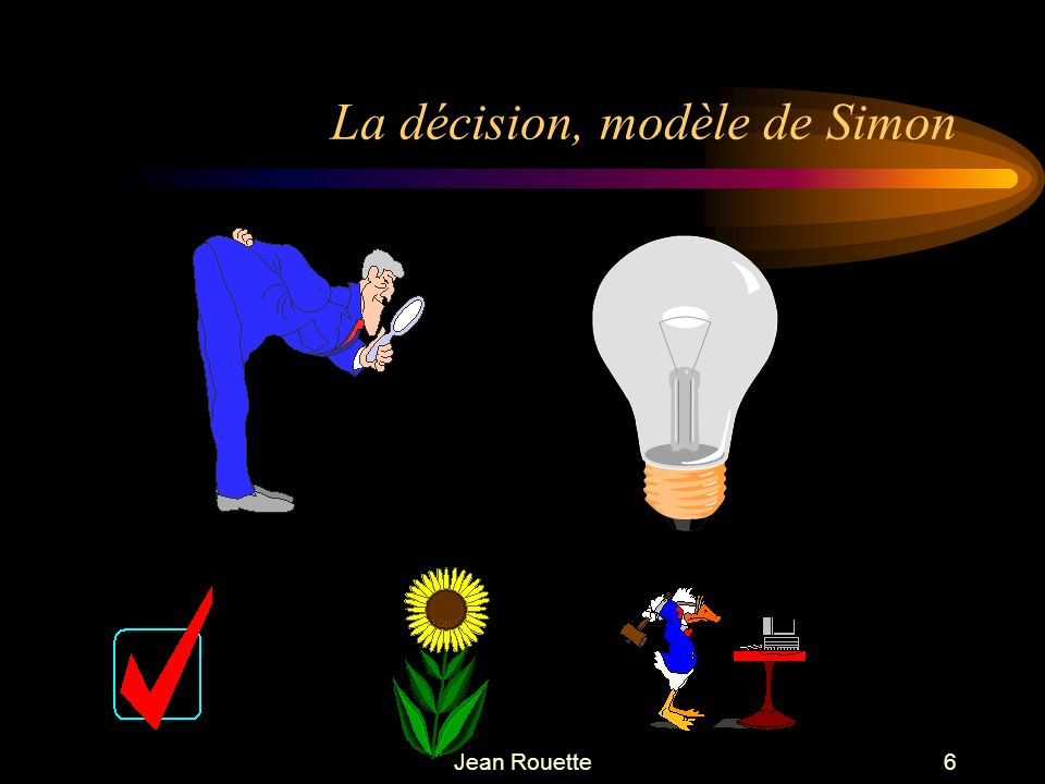La décision, modèle de Simon