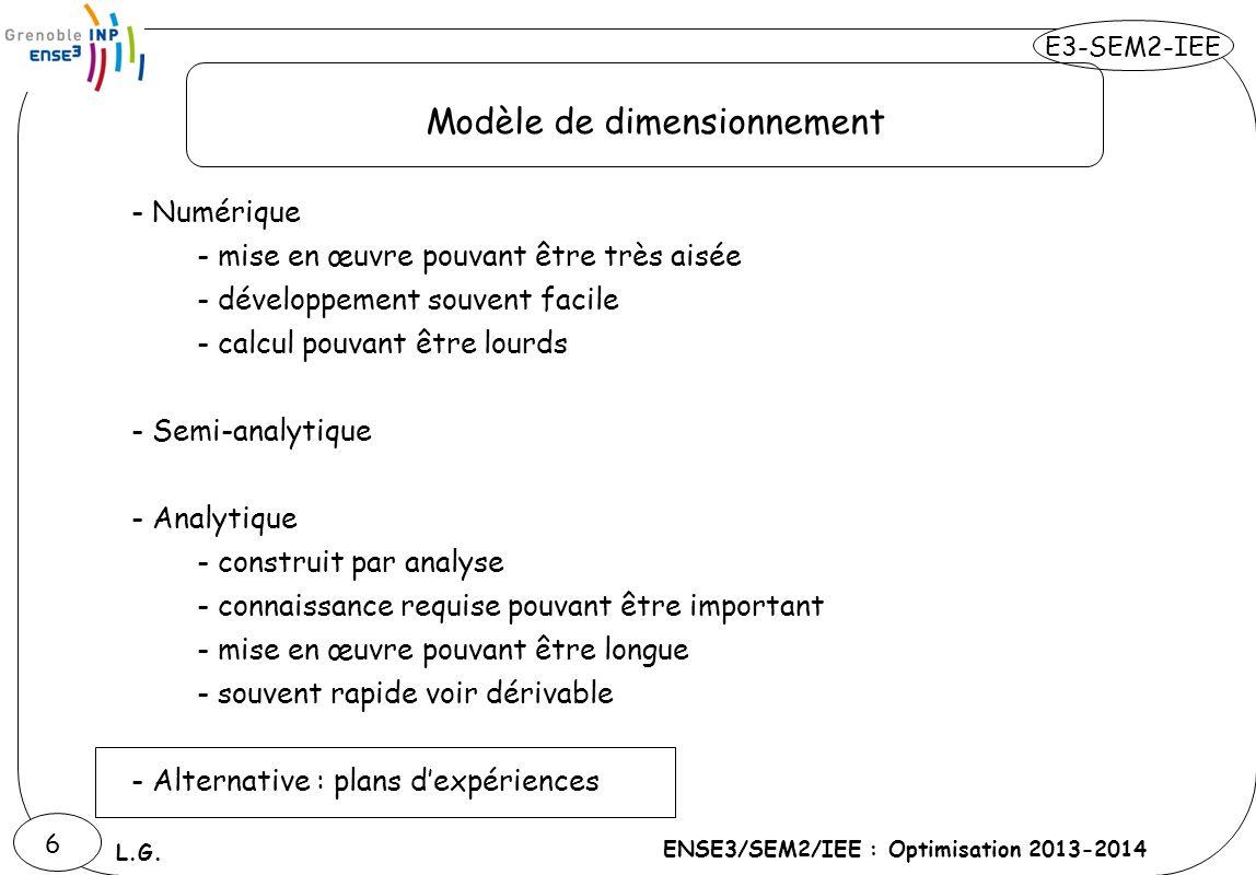 Modèle de dimensionnement