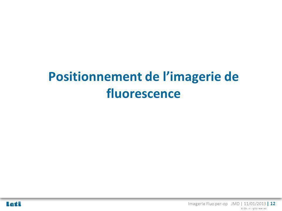 Positionnement de l'imagerie de fluorescence