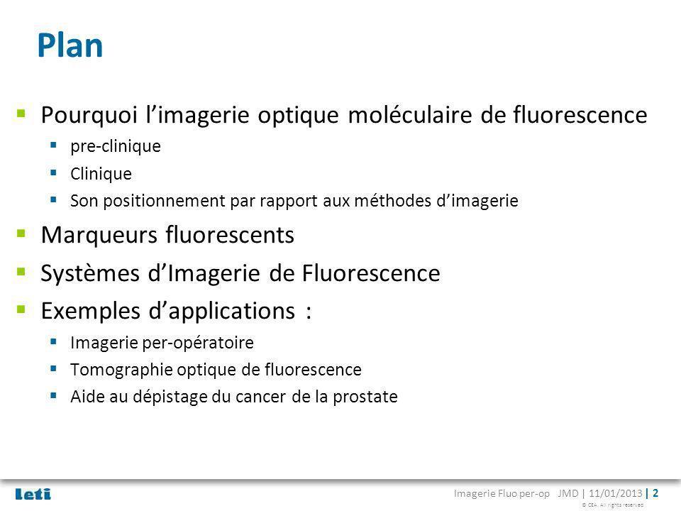 Plan Pourquoi l'imagerie optique moléculaire de fluorescence