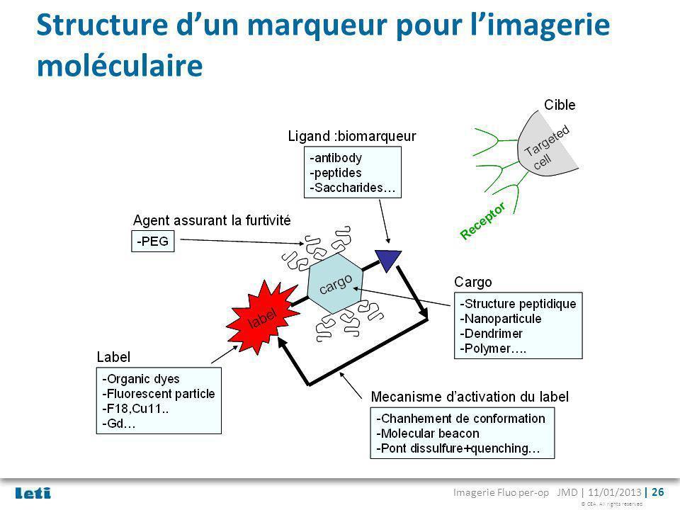 Structure d'un marqueur pour l'imagerie moléculaire