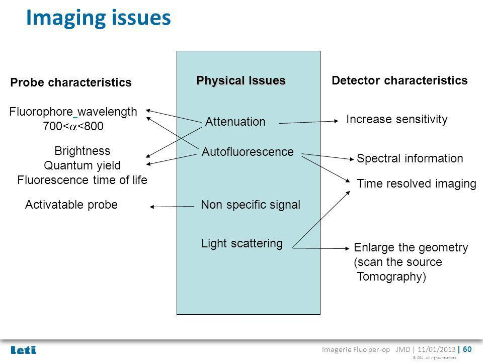 Imaging issues Probe characteristics Physical Issues