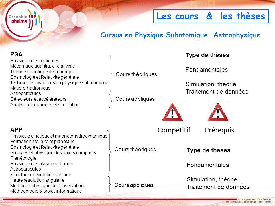 Cursus en Physique Subatomique, Astrophysique