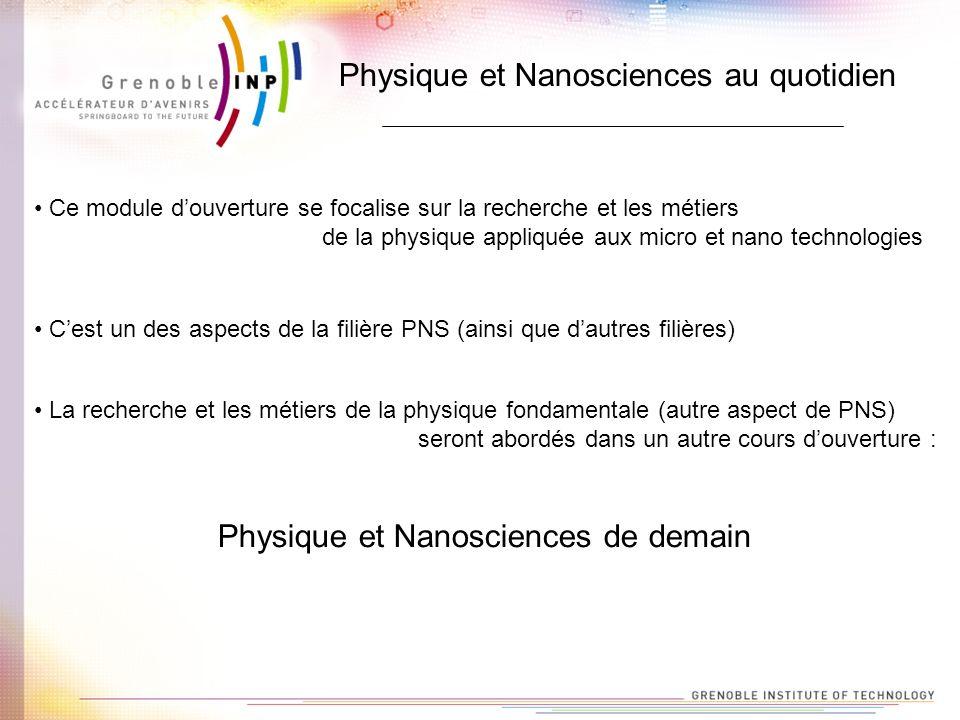 Physique et Nanosciences au quotidien