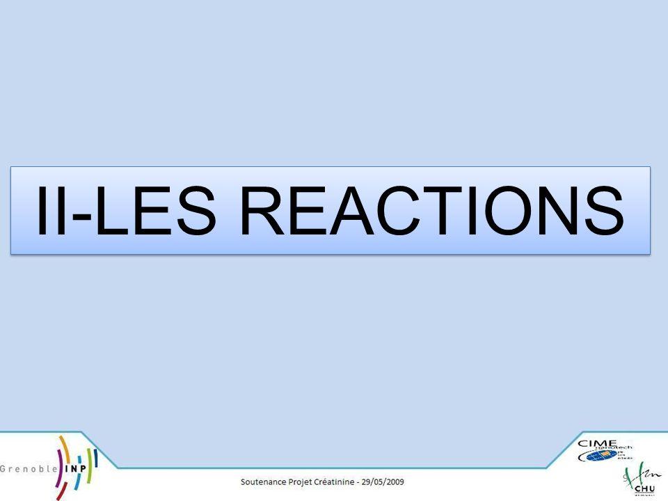 II-LES REACTIONS 9