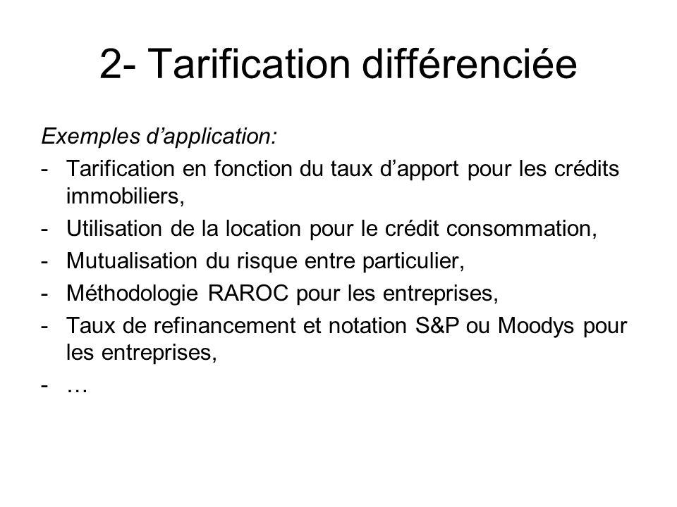 2- Tarification différenciée