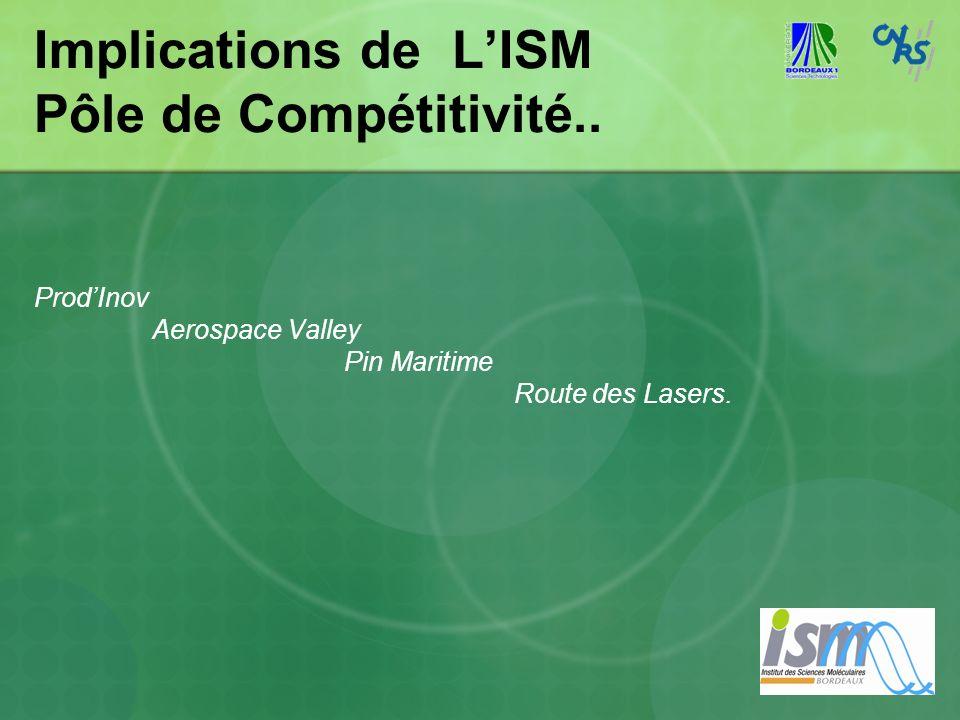 Implications de L'ISM Pôle de Compétitivité..