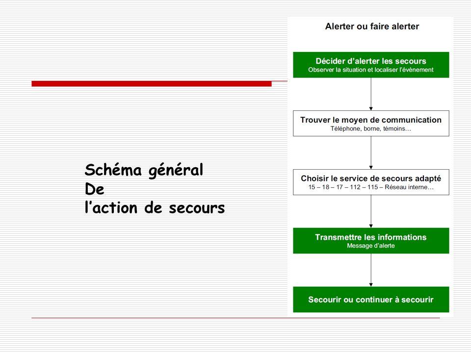 Schéma général De l'action de secours