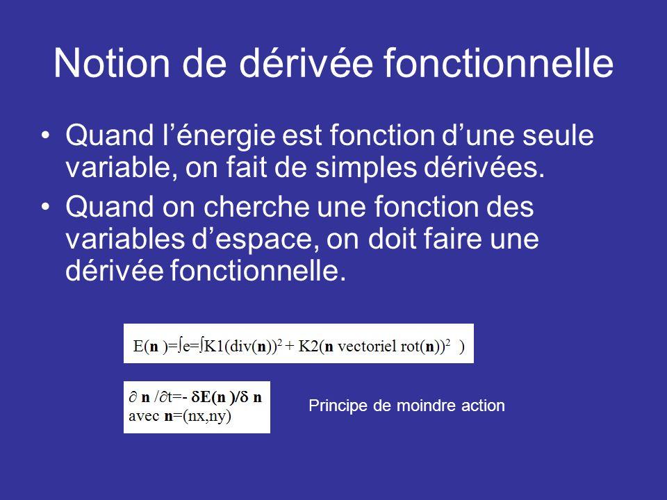Notion de dérivée fonctionnelle