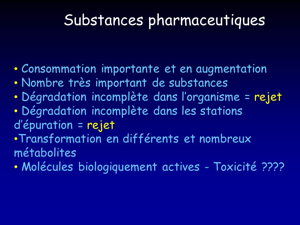 Substances pharmaceutiques