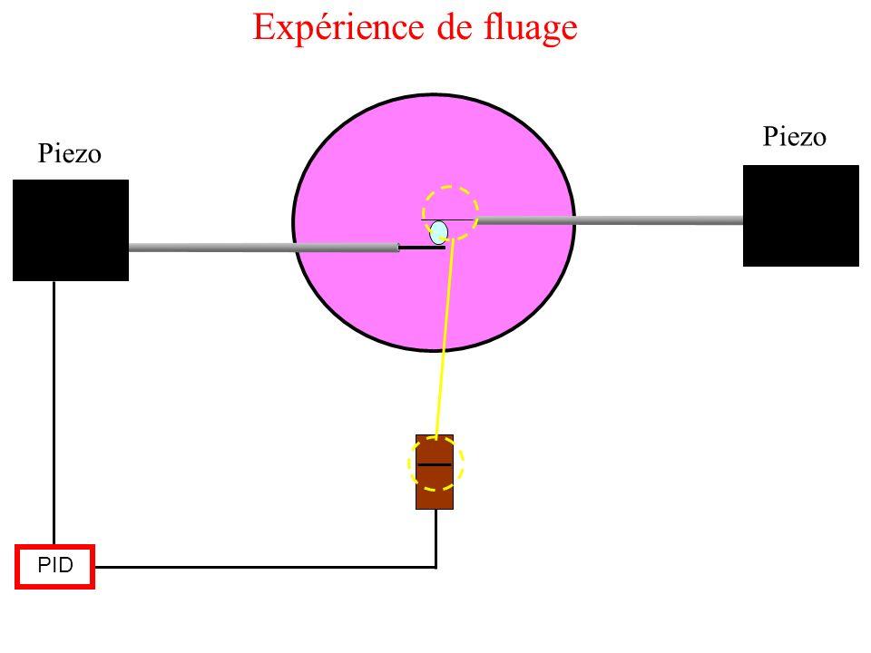 Expérience de fluage Piezo Piezo PID