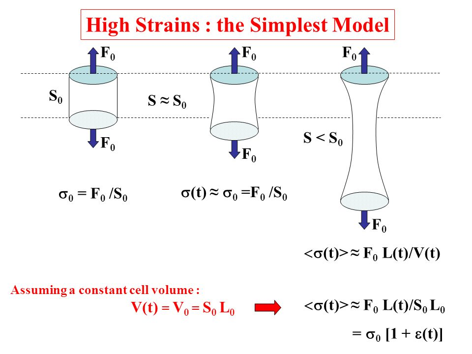 High Strains : the Simplest Model