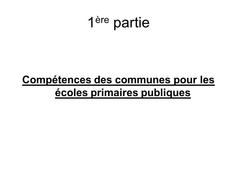 Compétences des communes pour les écoles primaires publiques