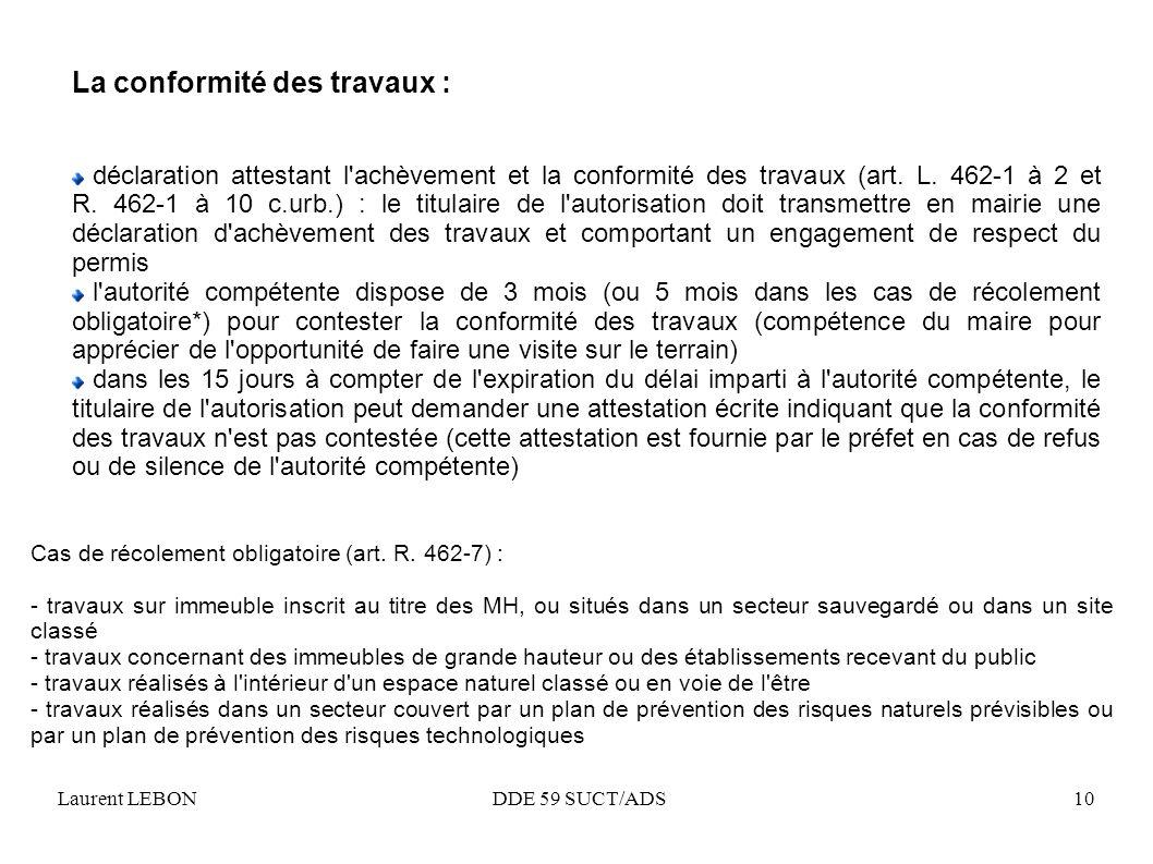 La mise en oeuvre de la r forme du droit des sols ppt video online t l charger - Declaration fin de travaux ...