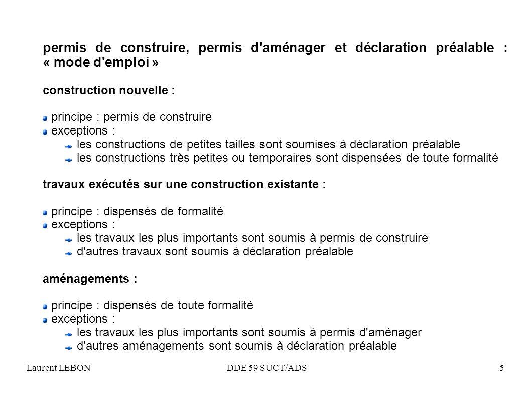 permis de construire, permis d aménager et déclaration préalable : « mode d emploi »