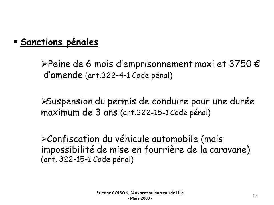 Etienne COLSON, © avocat au barreau de Lille - Mars 2009 -