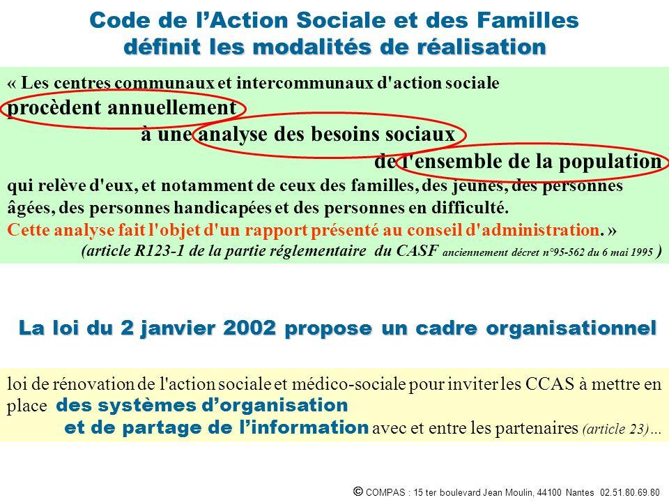 La loi du 2 janvier 2002 propose un cadre organisationnel