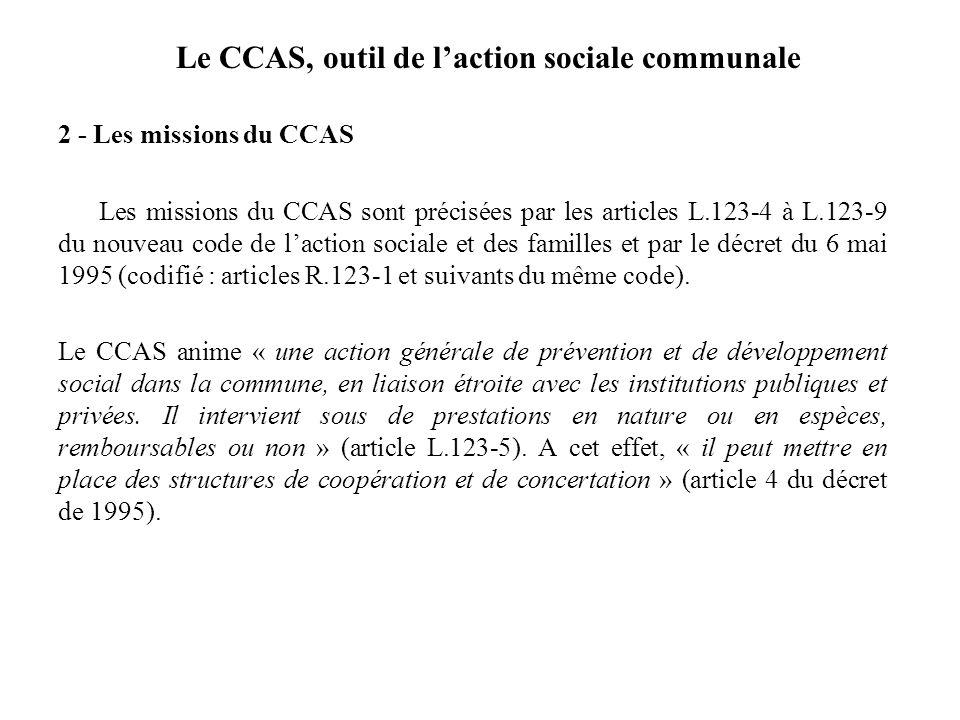 Le CCAS, outil de l'action sociale communale