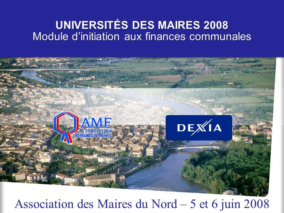 UNIVERSITÉS DES MAIRES 2008